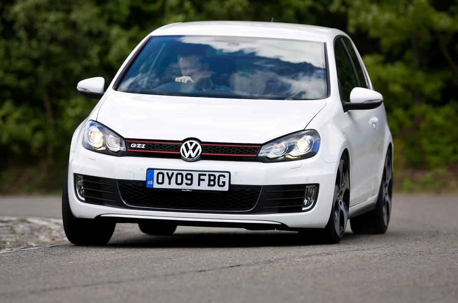 Volkswagen Golf GTI hard cornering