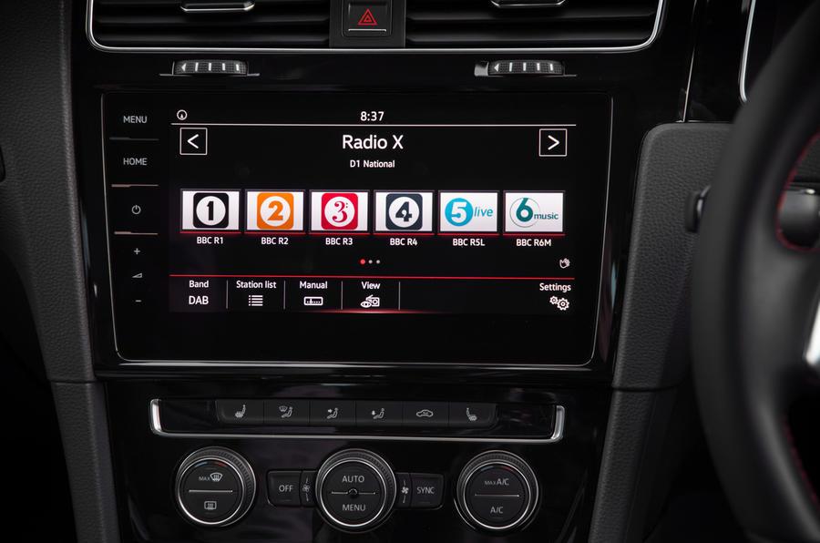 Volkswagen Golf GTI infotainment system