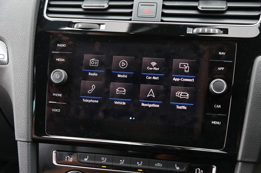 Volkswagen Golf infotainment system