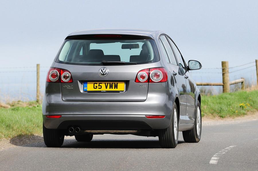 Volkswagen Golf Plus rear cornering