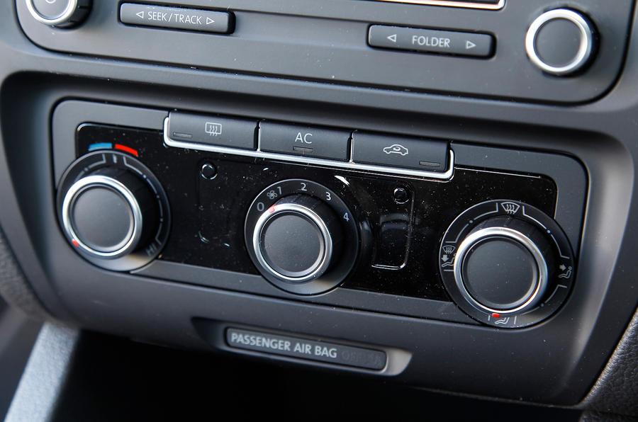 Volkswagen Jetta climate control switchgear