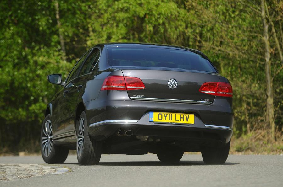 Volkswagen Passat rear cornering