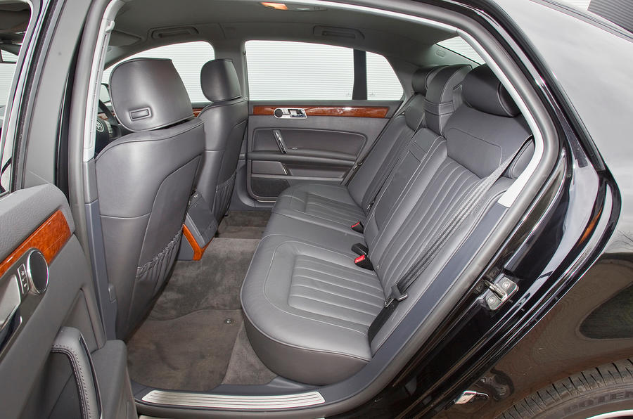 Passengers in the rear benefit from heated seats and four zone climate
