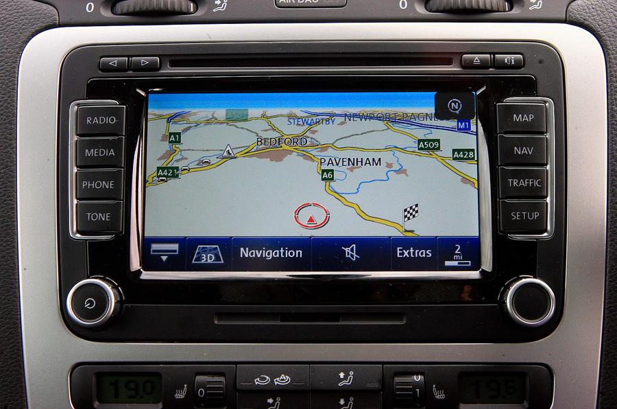Volkswagen Scirocco infotainment system