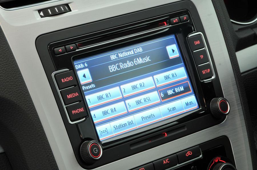 Volkswagen Scirocco infotainment