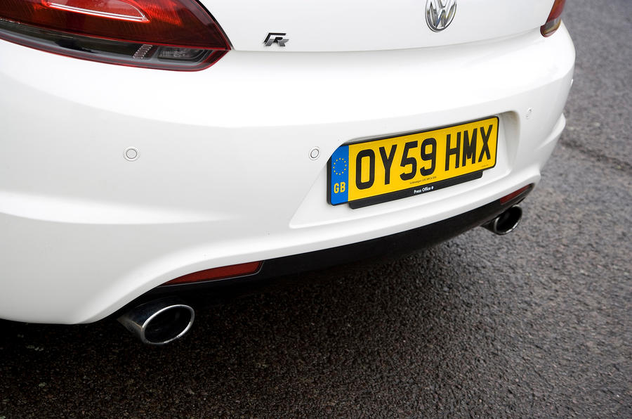 Volkswagen Scirocco R rear diffuser