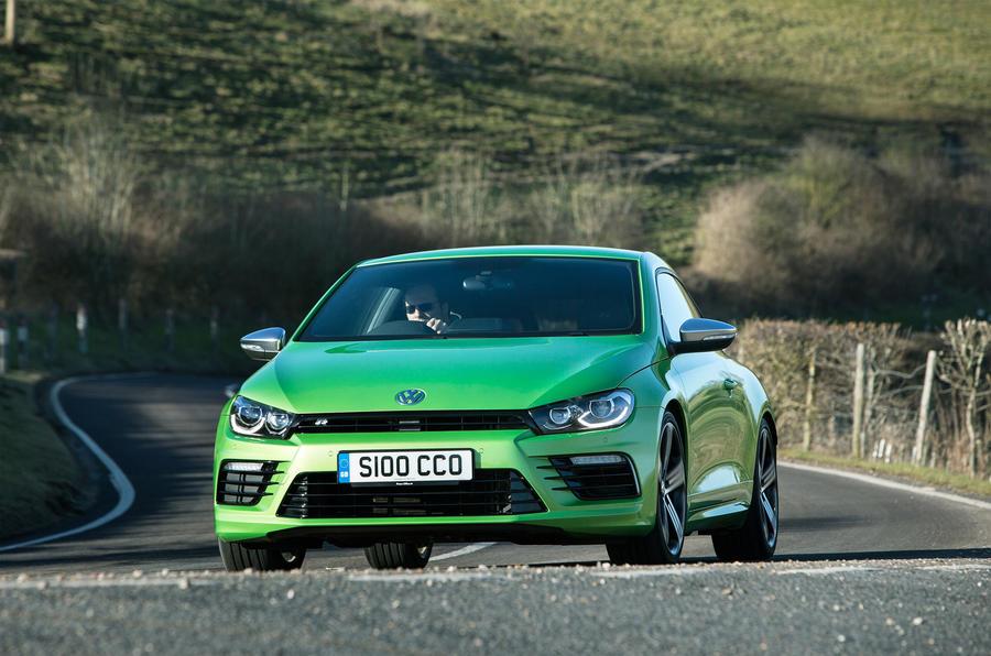 Volkswagen Scirocco R cornering