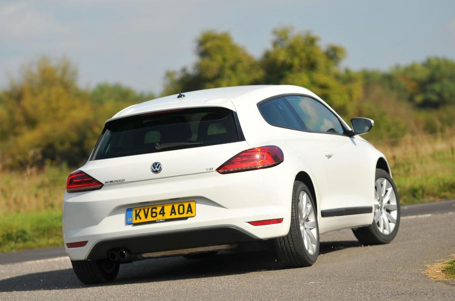 Volkswagen Scirocco rear cornering
