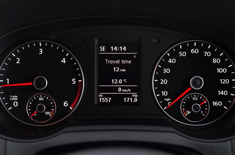Volkswagen Sharan instrument cluster