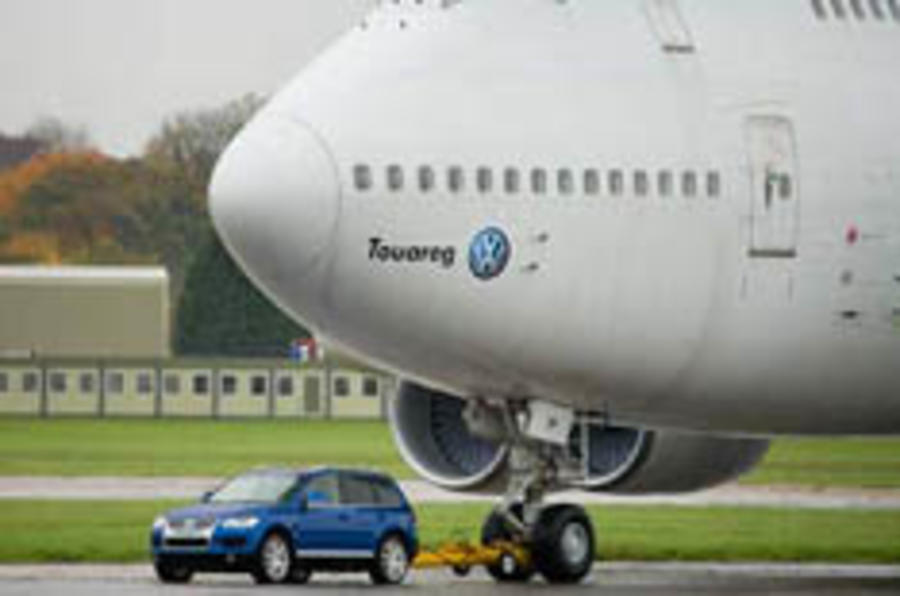 Touareg's towing ability is plane silly