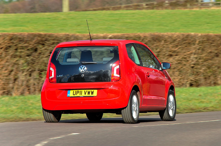 Volkswagen Up rear cornering