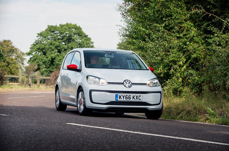 Volkswagen Up cornering