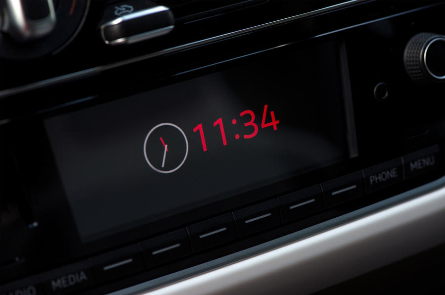 Volkswagen Up infotainment system display