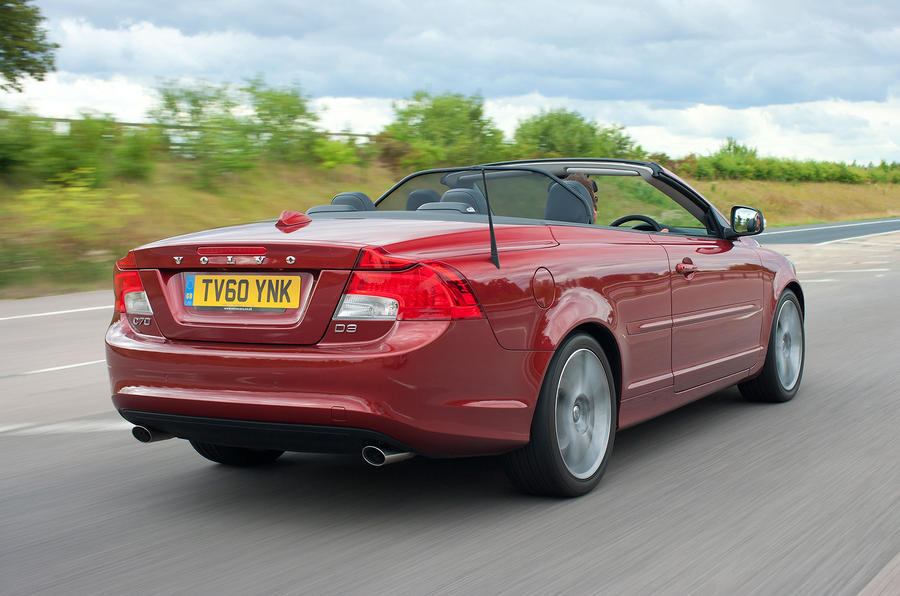 Volvo C70 roof down rear