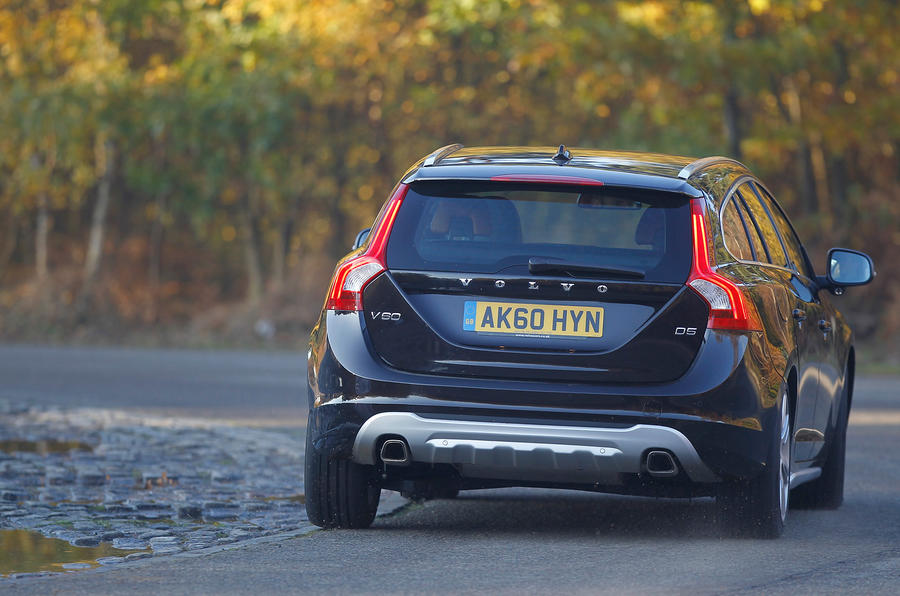 Volvo V60 rear cornering