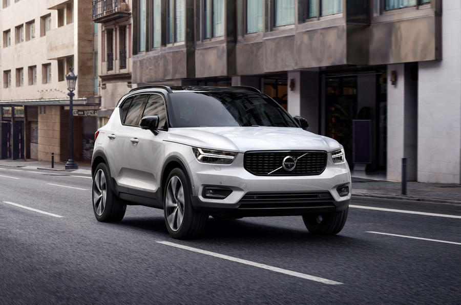 Volvo XC40 on the road