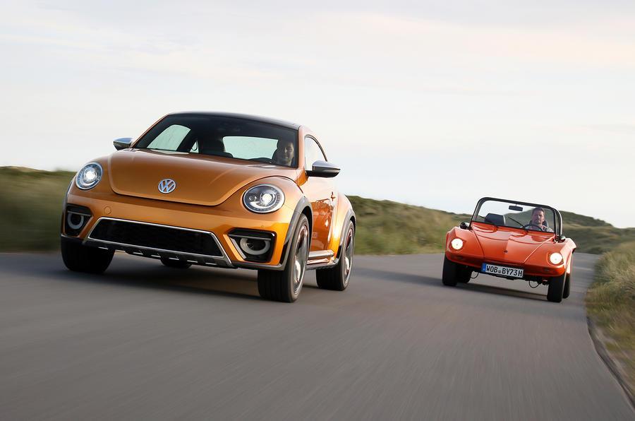 Volkswagen Beetle Dune concept versus original