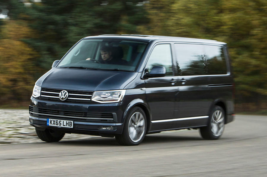 The Volkswagen Caravelle T6 hangs on well in the corners...