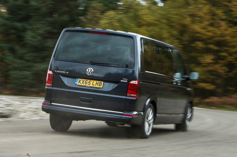 ...but the Volkswagen Caravelle T6's ride can feel a little wooden
