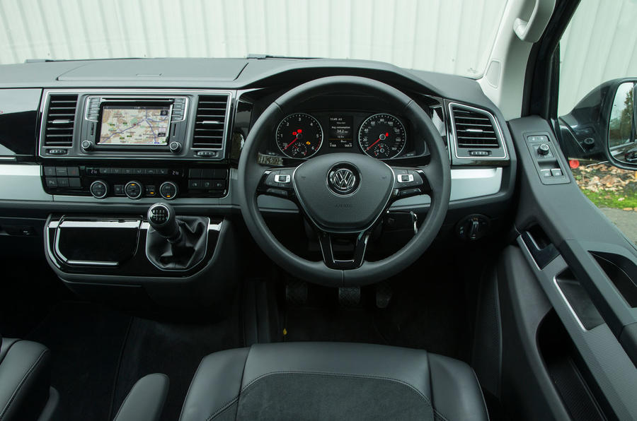 The view from the driver's seat in the Volkswagen Caravelle T6