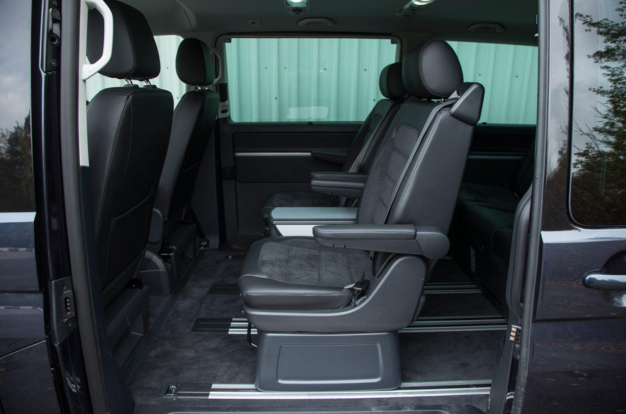 Rear seating options in the Volkswagen Caravelle