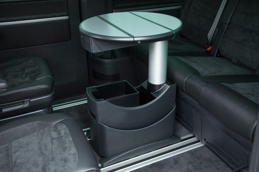 The executive table option in our T6 Caravelle test car