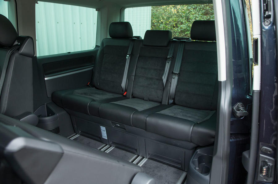 The rear bench in the Caravelle T6