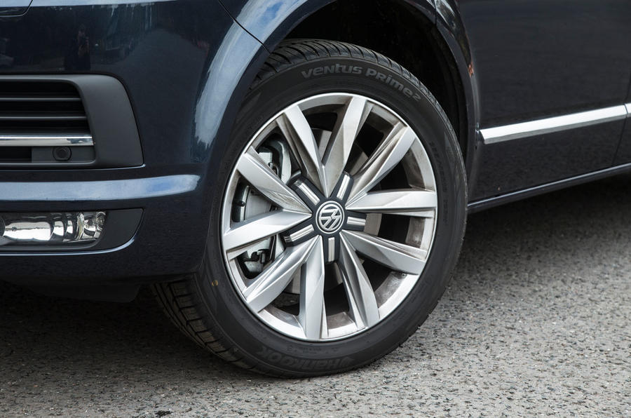 Volkswagen Caravelle comes with 16in alloys on SE trim, and 17in are fitted to the Executive Trim