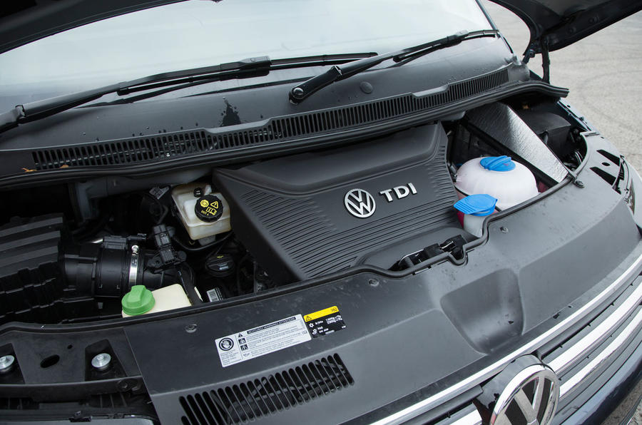 The 2.0-litre bi-turbo engine in the Volkswagen Caravelle T6