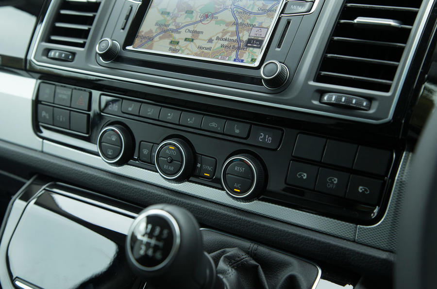 A closer look at the Caravelle's centre console