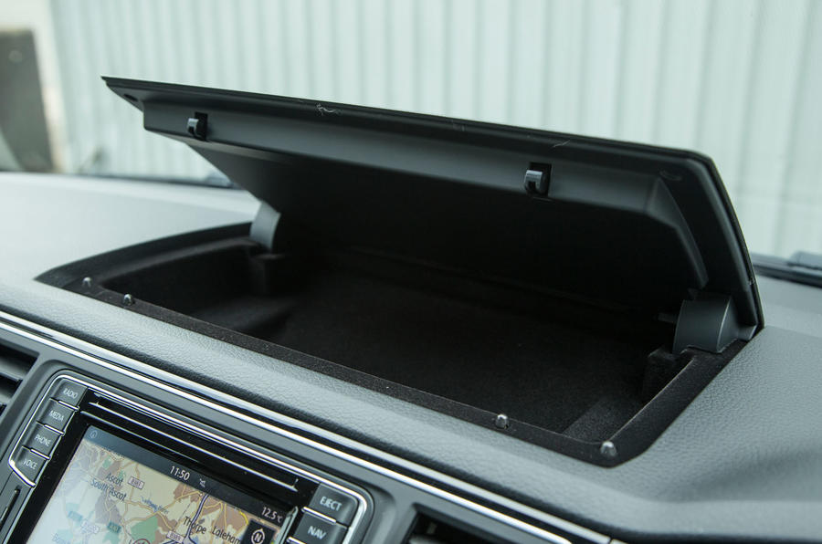Storage cubby hole on the Volkswagen Caravelle T6