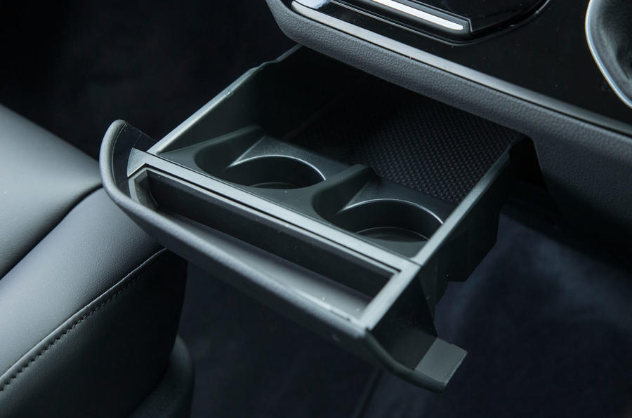 The asymmetrical cupholders in the Volkswagen Caravelle