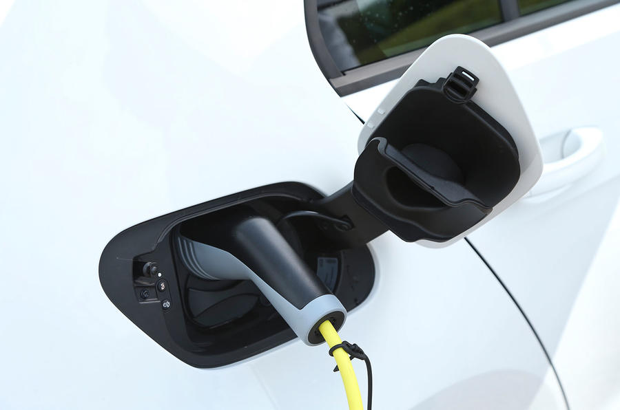 Volkswagen e-Golf charging socket