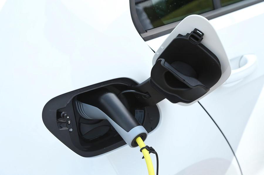 Volkswagen e-Golf charging socket