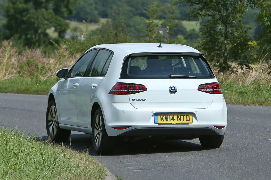 Volkswagen e-Golf rear cornering