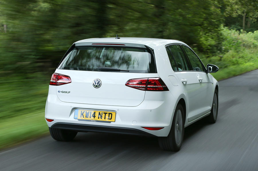 Volkswagen e-Golf rear quarter