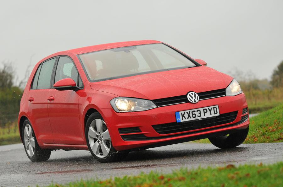 Volkswagen Golf cornering