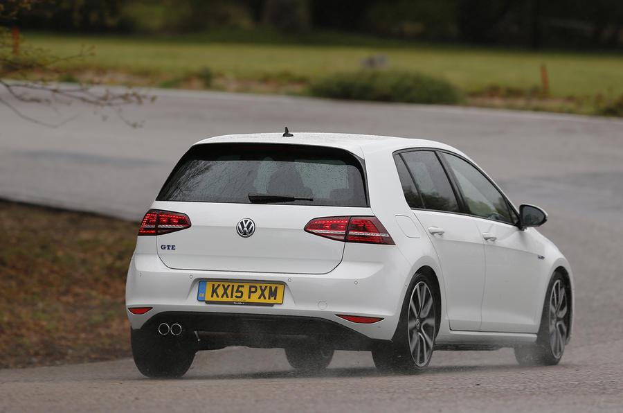 Volkswagen Golf GTE rear cornering