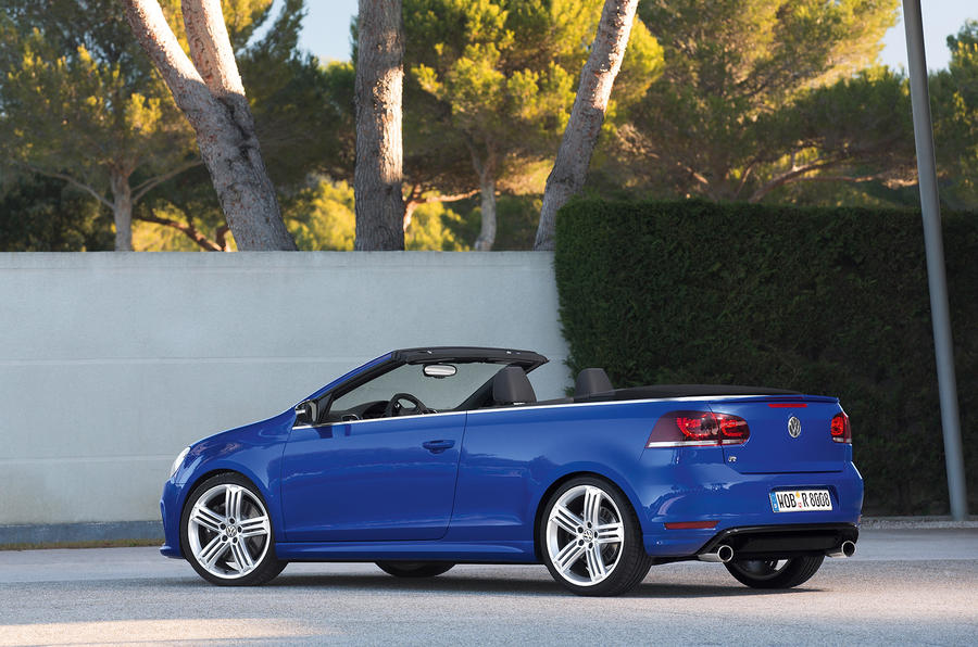 Volkswagen Golf R Cabriolet roof down