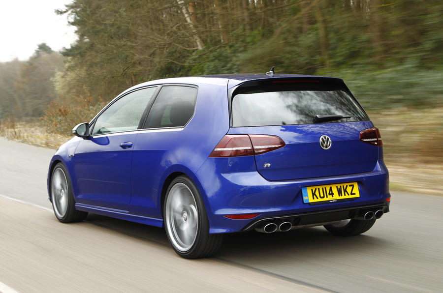 The Volkswagen Golf R comes equipped with four-wheel drive