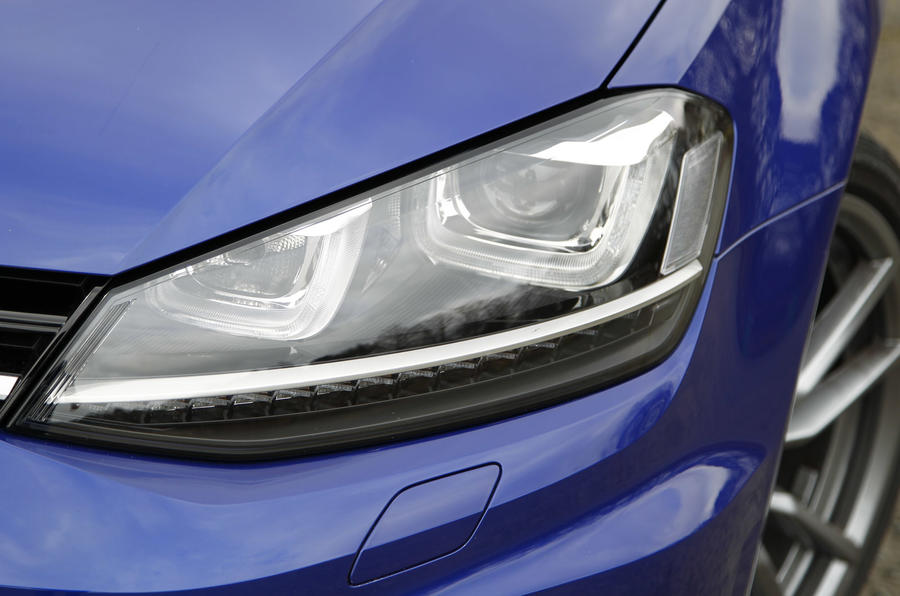 The Volkswagen Golf R comes with newly designed LED Day running lights