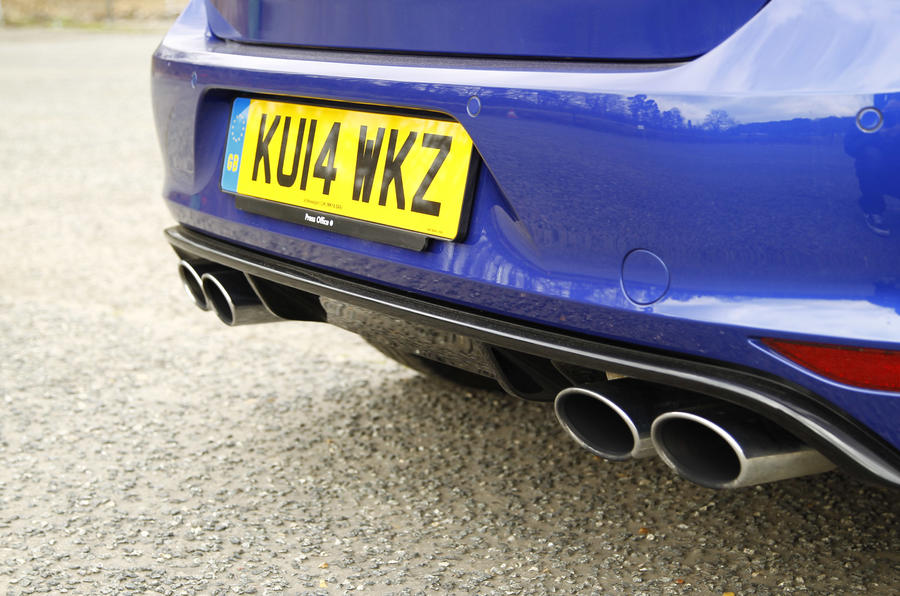 The Volkswagen Golf R comes with a four-piped exhaust - sporty