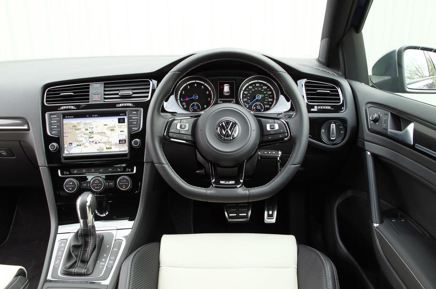The driver's view of the Volkswagen Golf R