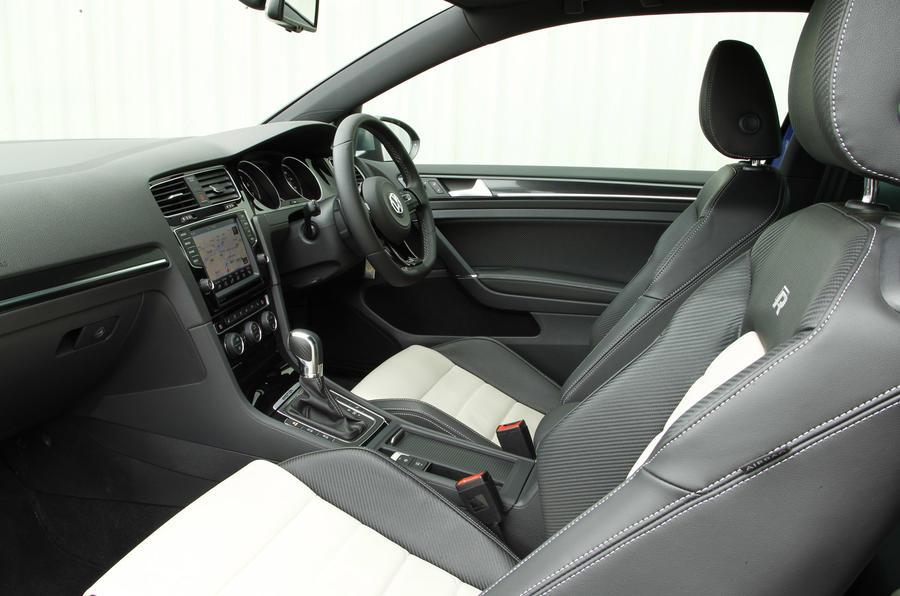 An inside look of the Volkswagen Golf R