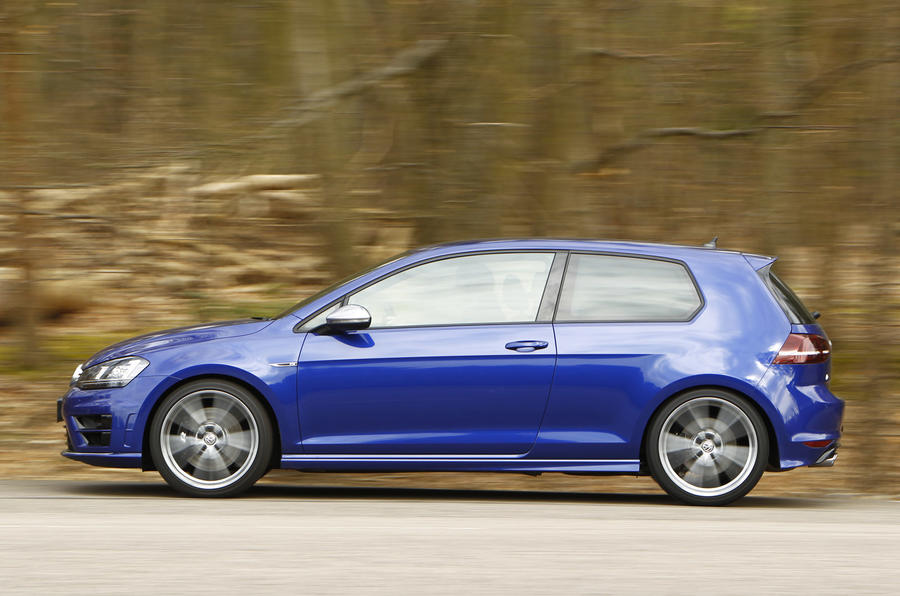 The ride can be firm and occasionally brittle in the Volkswagen Golf R