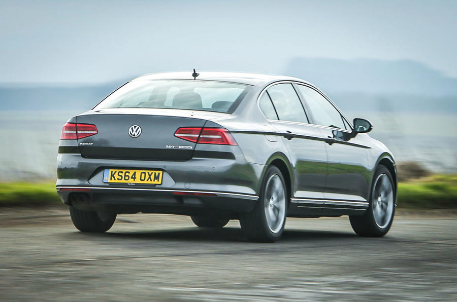 The Volkswagen Passat glides along unperturbed