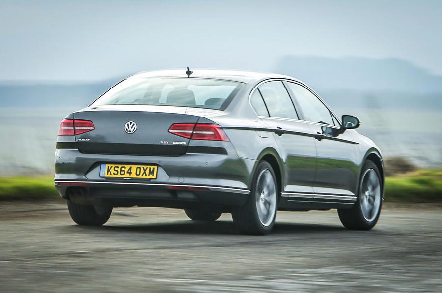 The Volkswagen Passat glides along unperturbed