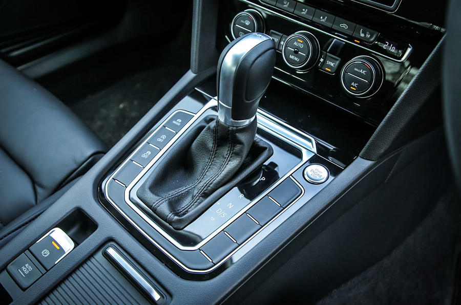 The DSG gearbox fitted to our Volkswagen Passat GT test car