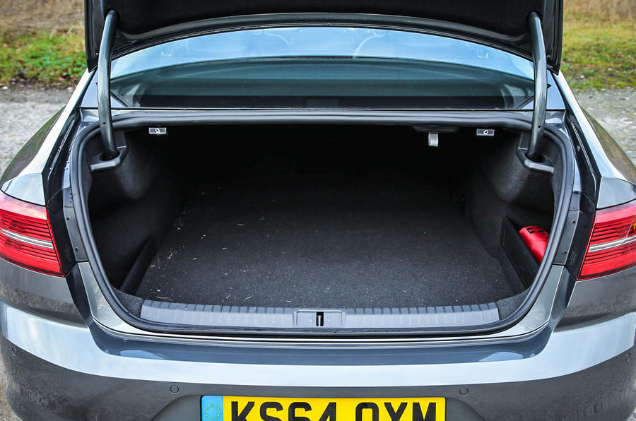 The opening to Volkswagen Passat's boot