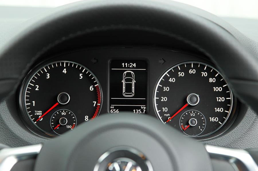 Volkswagen Polo BlueGT instrument cluster